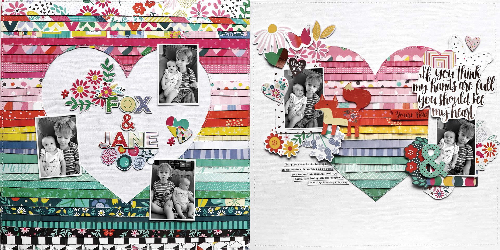 Fox & Jane by Paige Evans for Scrapbook & Cards Today