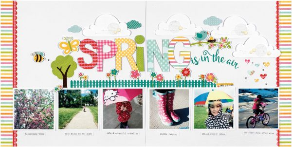 Spring Is In The Air by Nicole Nowosad for Scrapbook and Cards Today Magazine