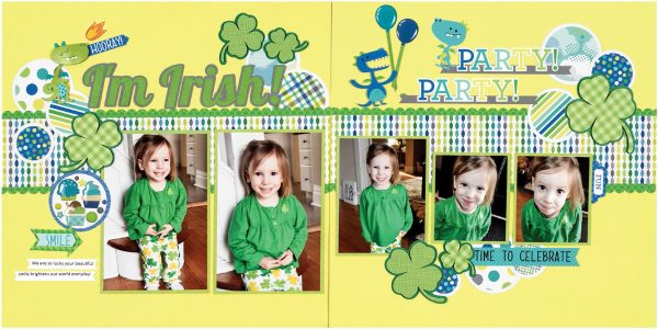 I'm Irish by Virginia Nebel for Scrapbook & Cards Today
