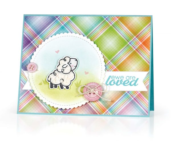 Ewe Are Loved Card by Kimberly Crawford for Scrapbook & Cards Today