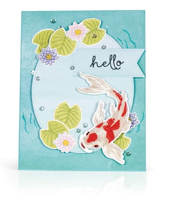 Hello Card by Kimberly Crawford for Scrapbook & Cards Today