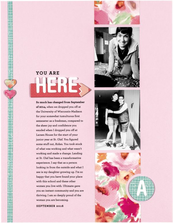 You Are Here by Cathy Zielske for Scrapbook & Cards Today