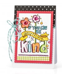 Be Kind Card by Melissa Phillips for Scrapbook & Cards Today