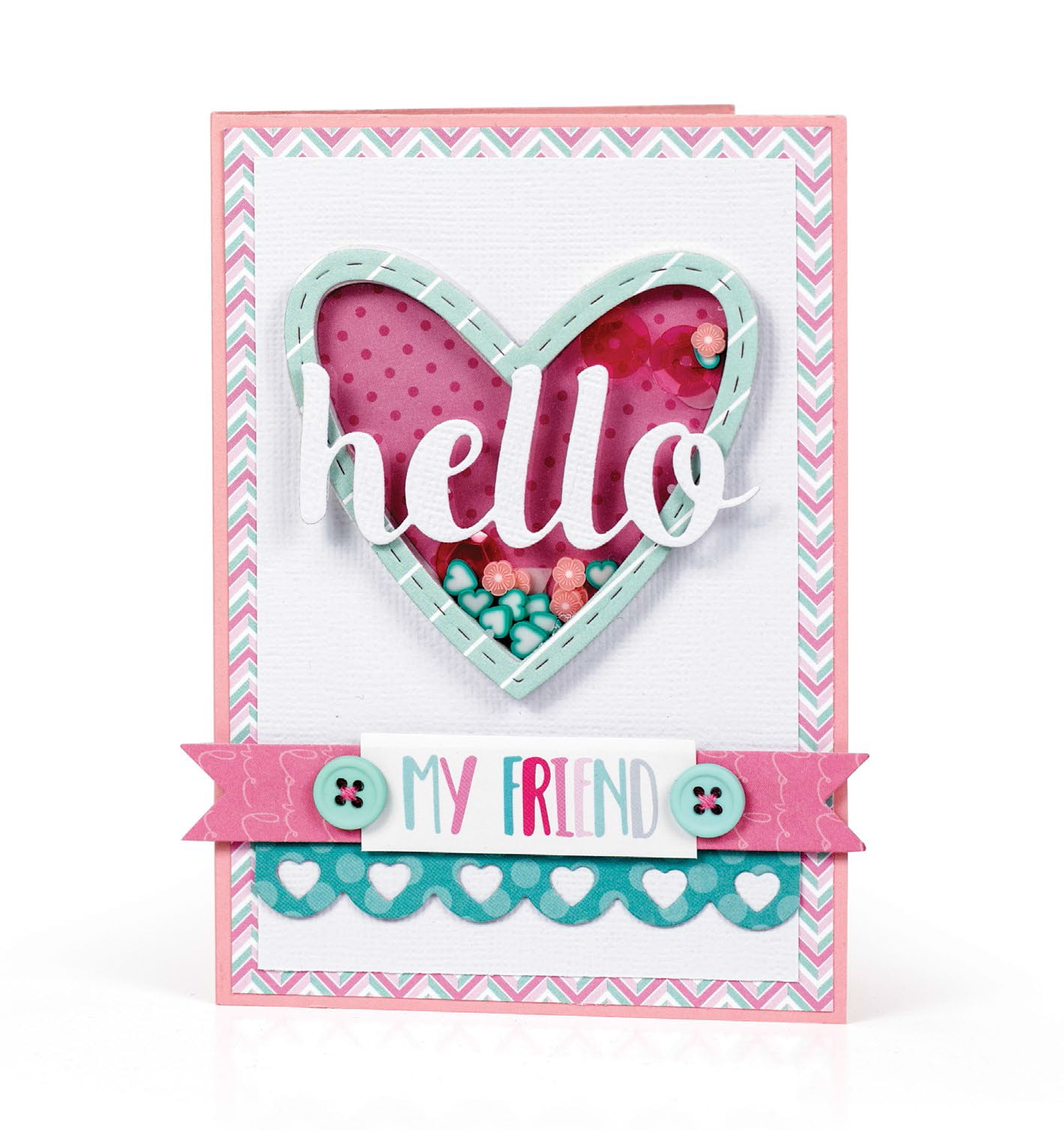 Hello Card by Melissa Phillips for Scrapbook & Cards Today