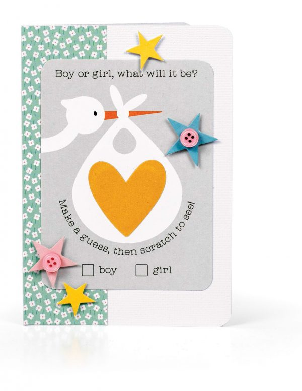 Boy or Girl Card by Melissa Phillips for Scrapbook & Cards Today