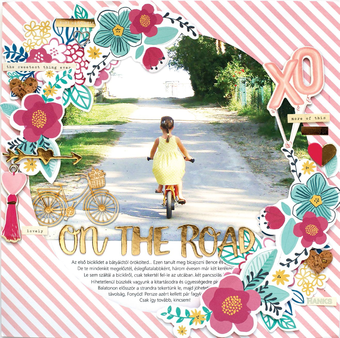 On The Road by Bea Valint for Scrapbook & Cards Today