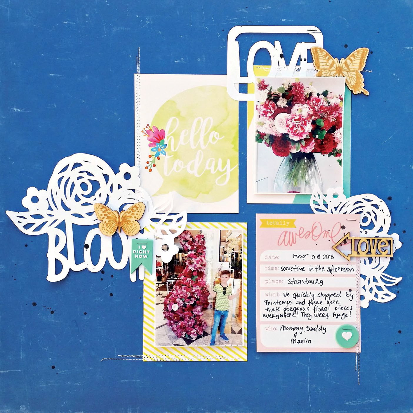 Bloom by Zsoka Marko for Scrapbook & Cards Today