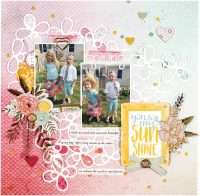 Spring by Audrey Yeager for Scrapbook & Cards Today