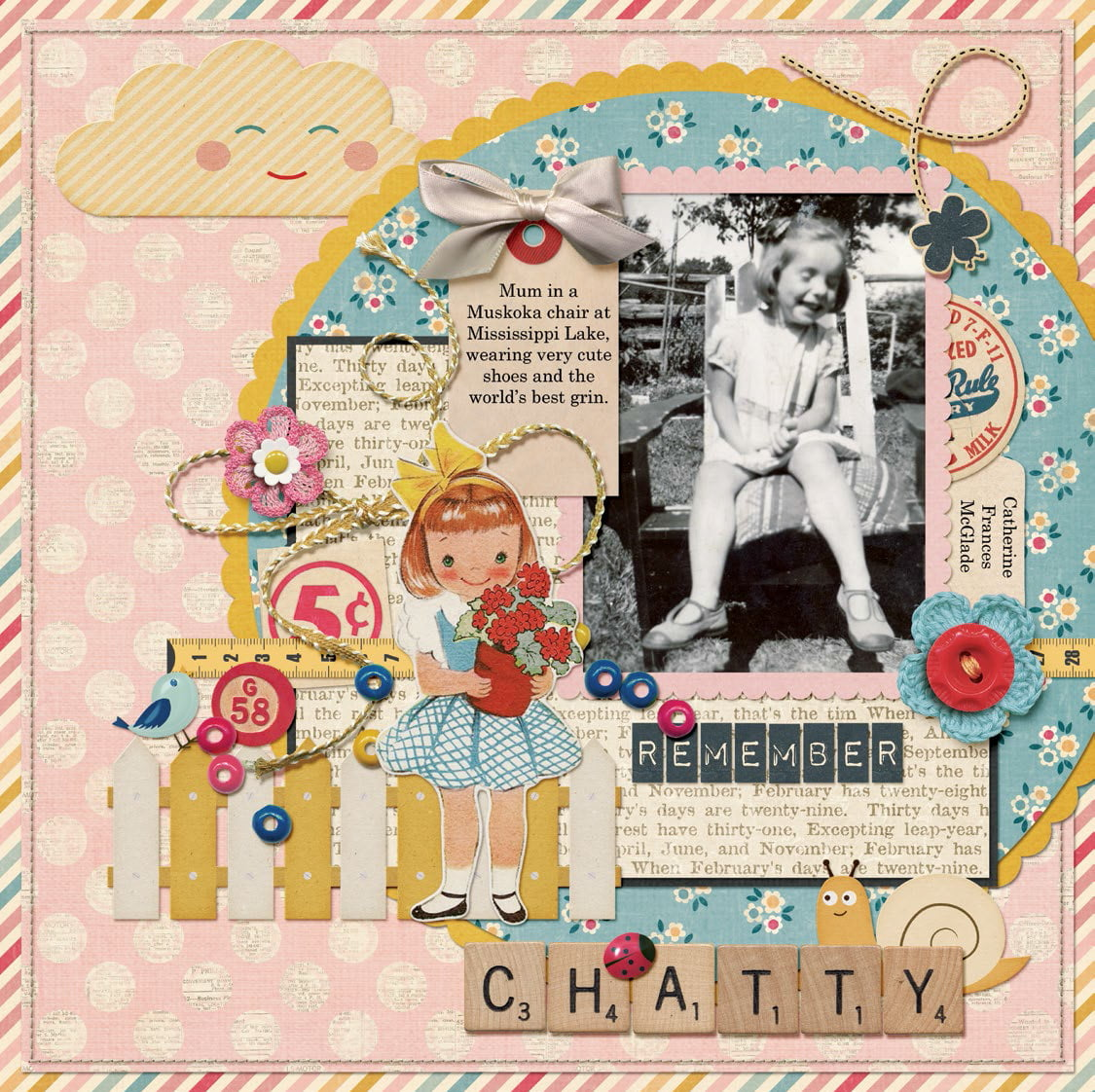 Chatty Mary by Catherine Moran for Scrapbook & Cards Today