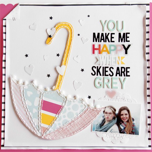 You Make Me Happy by Laureen Wagener for Scrapbook & Cards Today