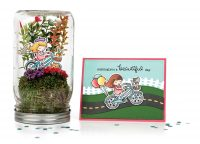 Springtime Terrarium and Card by Chari Moss for Scrapbook & Cards Today