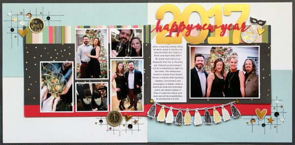 Happy New Year by Lisa Dickinson for Scrapbook & Cards Today