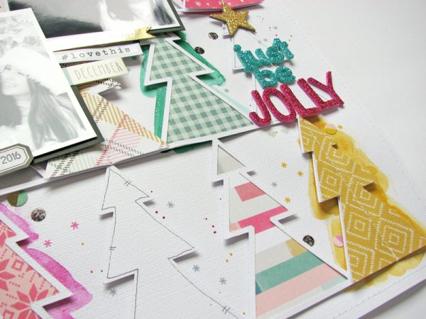 Just be jolly full by Nicole Nowosad for Scrapbook and Cards Today Magazine
