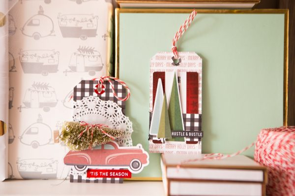 Christmas Tag by Megan Hoeppner for Scrapbook & Cards Today magazinee