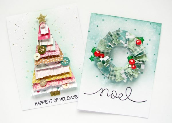 Holiday cards by Nicole Nowosad for Scrapbook and Cards Today Magazine