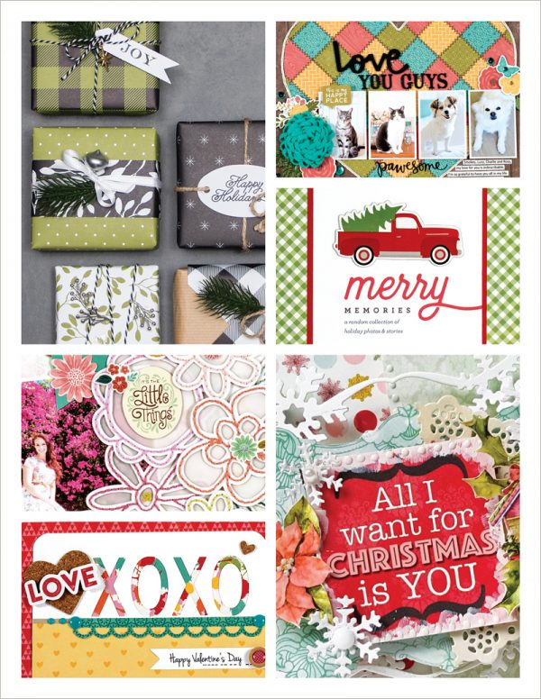 Scrapbook & Cards Today - Winter 2017 Issue Collage