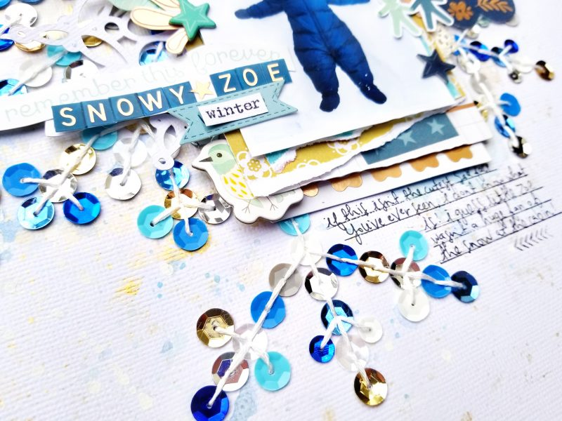 Snowy Zoe Detail 5 by Paige Evans for Scrapbook & Cards Today Magazine