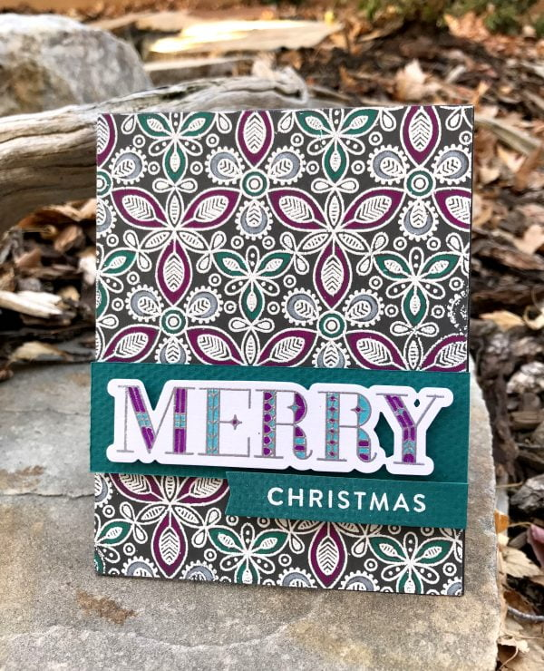 Merry Christmas card by Susan Opel for Scrapbook and Cards Today magazine