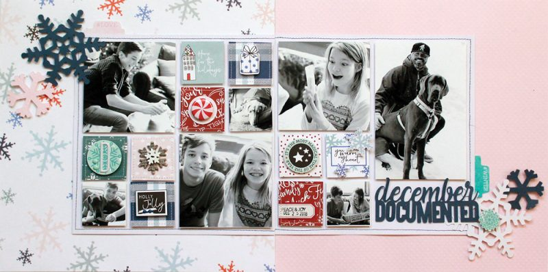 Winter 2017 Sleigh Bells Layout by Lisa Dickinson