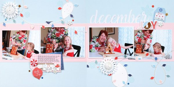 Winter 2017 Sleigh Bells Layout by Meghann Andrew