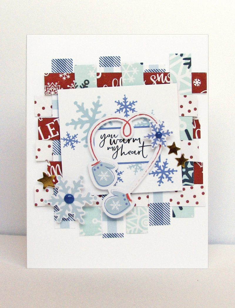 Winter 2017 Sleigh Bells Card by Nicole Nowosad for Scrapbook and Cards Today Magazine
