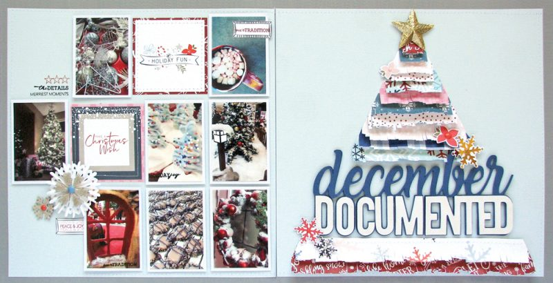 Winter 2017 Sleigh Bells Layout by Nicole Nowosad for Scrapbook and Cards Today Magazine