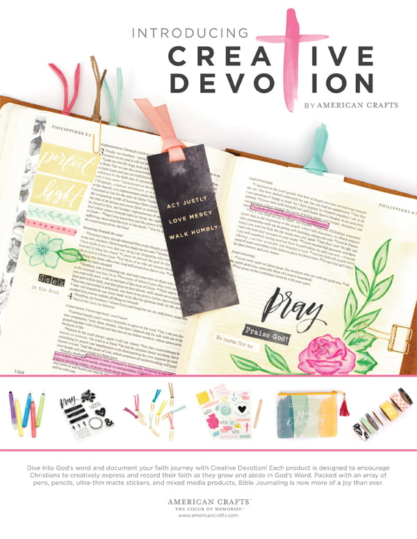American Crafts - Creative Devotion Ad for Scrapbook & Cards Today Winter 2017 issue