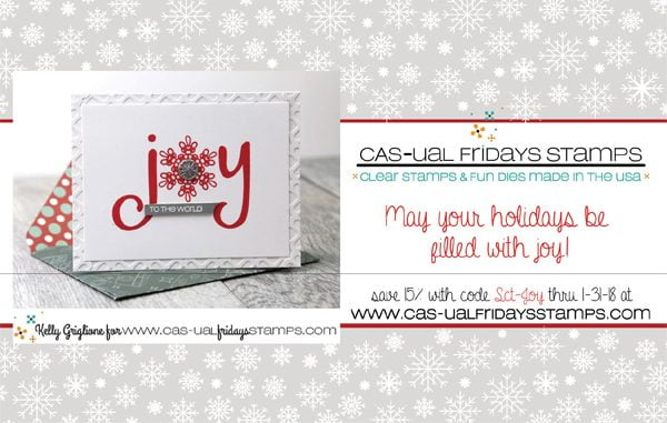 Cas-ual Fridays Stamps Ad for Scrapbook & Cards Today Winter 2017 issue