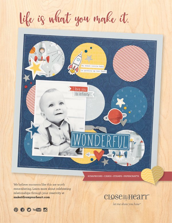 Close To My Heart Ad for Scrapbook & Cards Today Winter 2017 issue