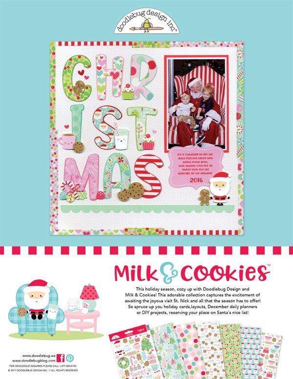 Doodlebug Design Ad for Scrapbook & Cards Today Winter 2017 issue