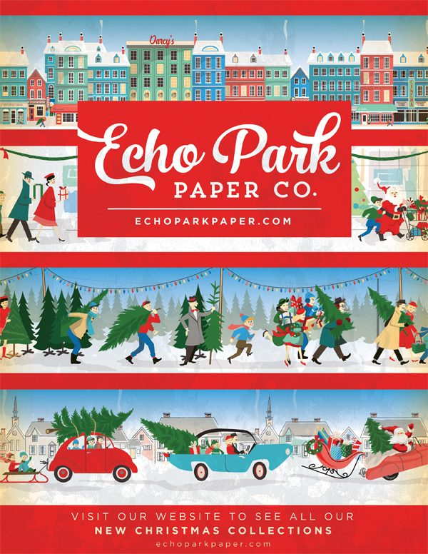 Echo Park Paper Ad for Scrapbook & Cards Today Winter 2017 issue
