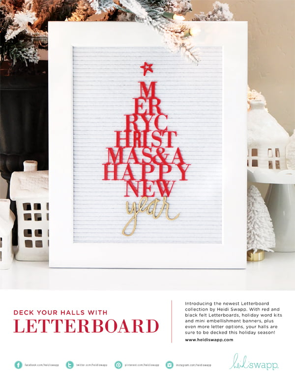 Heidi Swapp Ad for Scrapbook & Cards Today Winter 2017 issue