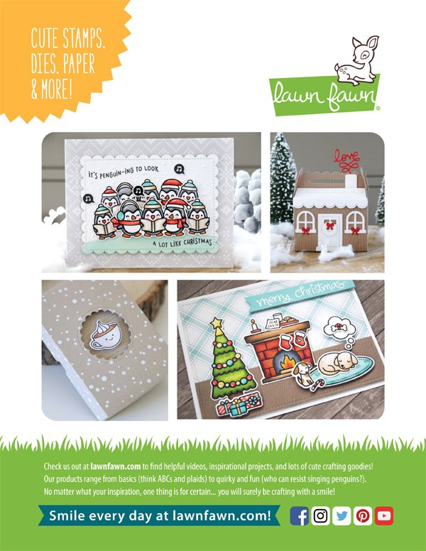 Lawn Fawn Ad for Scrapbook & Cards Today Winter 2017 issue
