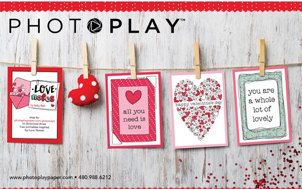 Photoplay Paper Ad for Scrapbook & Cards Today Winter 2017 issue
