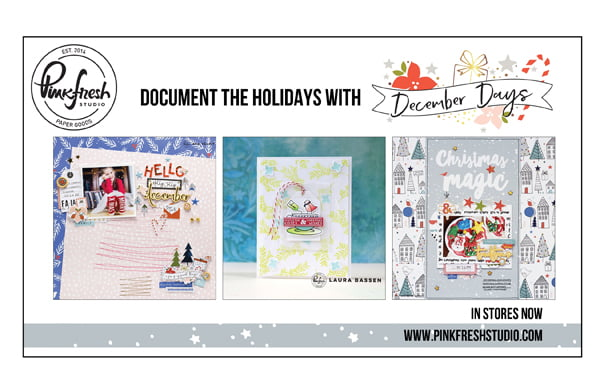 Pinkfresh Studio Ad for Scrapbook & Cards Today Winter 2017 issue