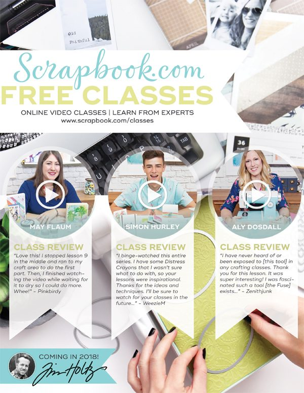 Scrapbook.com Classes Ad for Scrapbook & Cards Today Winter 2017 issue