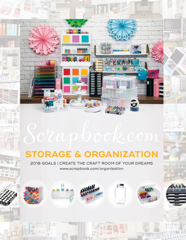 Scrapbook.com Storage Ad for Scrapbook & Cards Today Winter 2017 issue