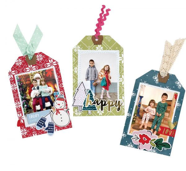 Personalized Photo Gift Tags Festive Family by Paige Evans for Scrapbook & Cards Today