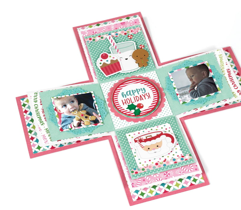 Photo Explosion Box Celebrate With Santa by Virginia Nebel for Scrapbook & Cards Today