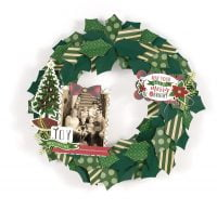 Photo Wreath Merry & Bright by Tya Smith for Scrapbook & Cards Today