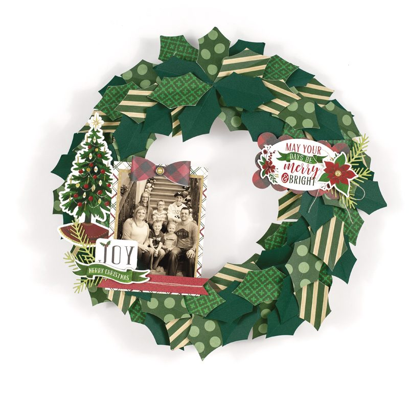Photo Wreath Merry & Bright by Tya Smith
