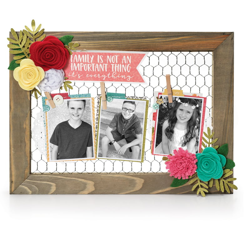 Photo Frame Family Is Everything by Nicole Nowosad for Scrapbook and Cards Today Magazine