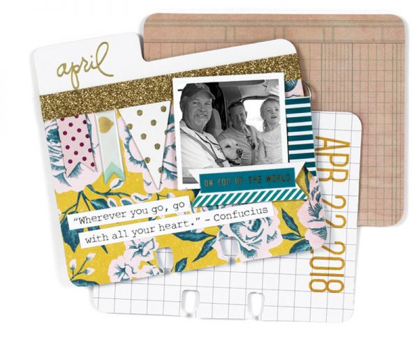 Photo Flip Calendar Times Flies by Meghann Andrew for Scrapbook & Cards Today