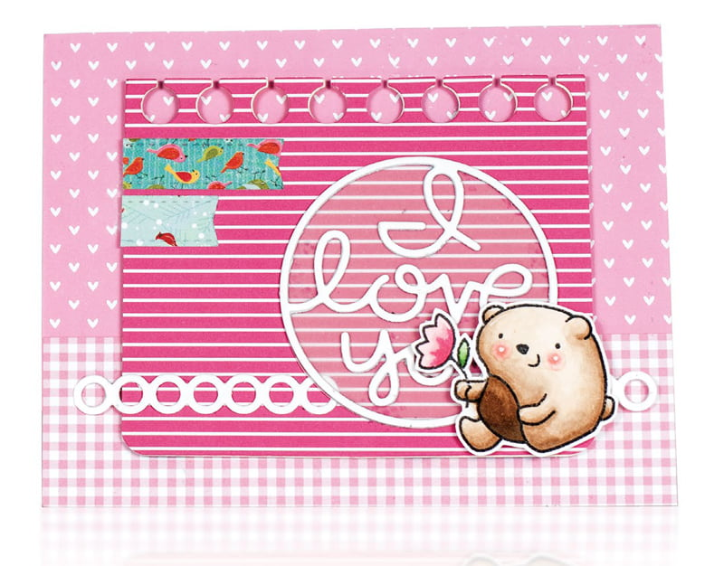 I Love You by Karin Akesdotter for Scrapbook & Cards Today