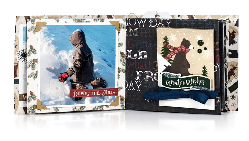 All Bundled Up by Jennifer S Gallacher for Scrapbook & Cards Today