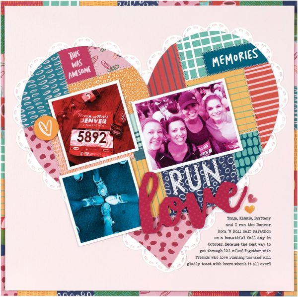 Run Love by Lisa Dickinson for Scrapbook & Cards Today