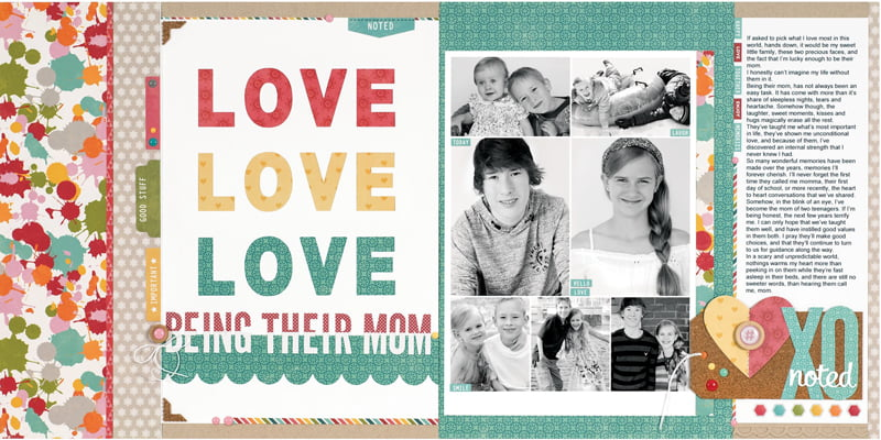 Love Being Their Mom by Sheri Reguly for Scrapbook & Cards Today