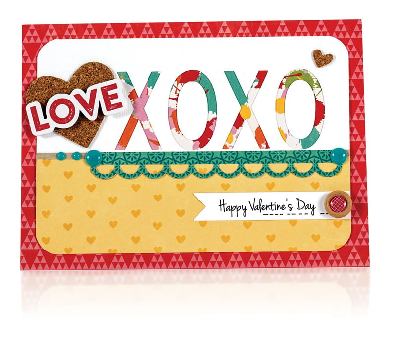 Love XOXO by Sheri Reguly for Scrapbook & Cards Today