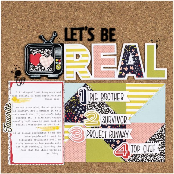 Let's Be Real by Nicole Nowosad for Scrapbook and Cards Today Magazine