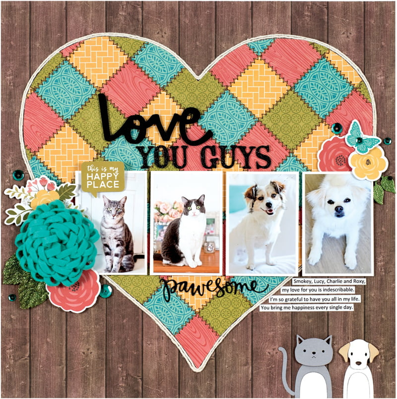 Love You Guys by Stacy Cohen for Scrapbook & Cards Today
